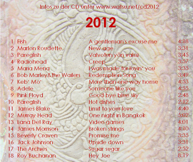 CD 2012 - Lyrics